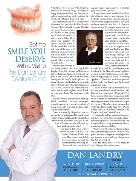Landry article in Windsor Life Magazine